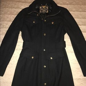 Black Guess Coat with Collar